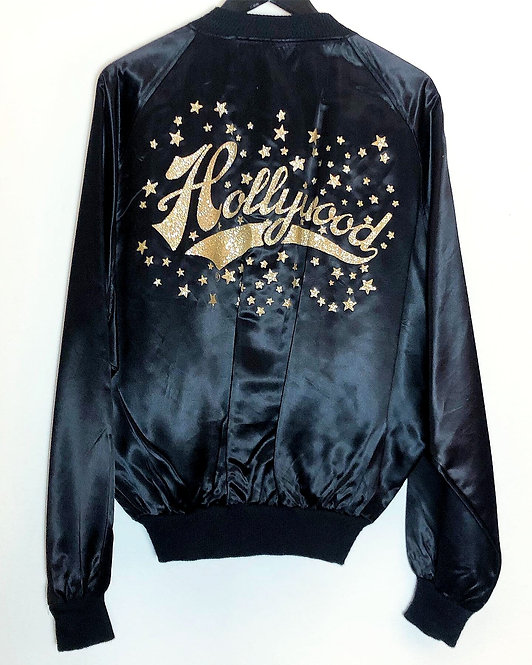 Men's Vintage Satin Hollywood Jacket from 1970's