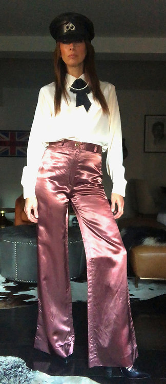 Satin Bell Bottoms from the 1970's