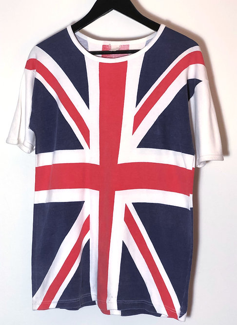 Vintage Union Jack Print T-shirt from 1980's