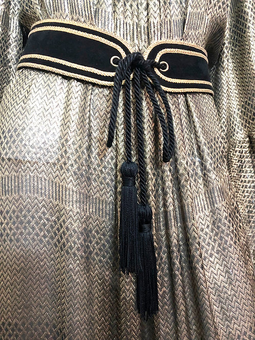 Yves Saint Laurent Russian Collection Black Suede Belt
