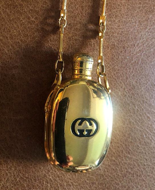 Gucci Vintage 1980's Flask Necklace with Horse Bit Details
