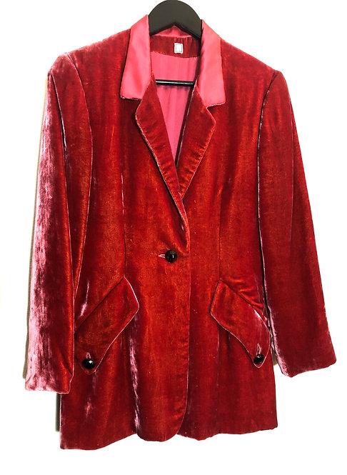 Geoffrey Beene Silk Velvet Blazer from 1990's