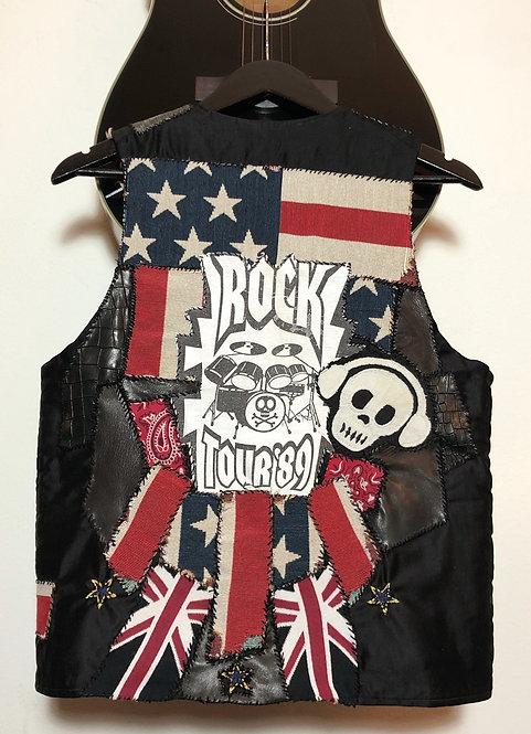 1970's Customized Fur Lined Rocker Vest
