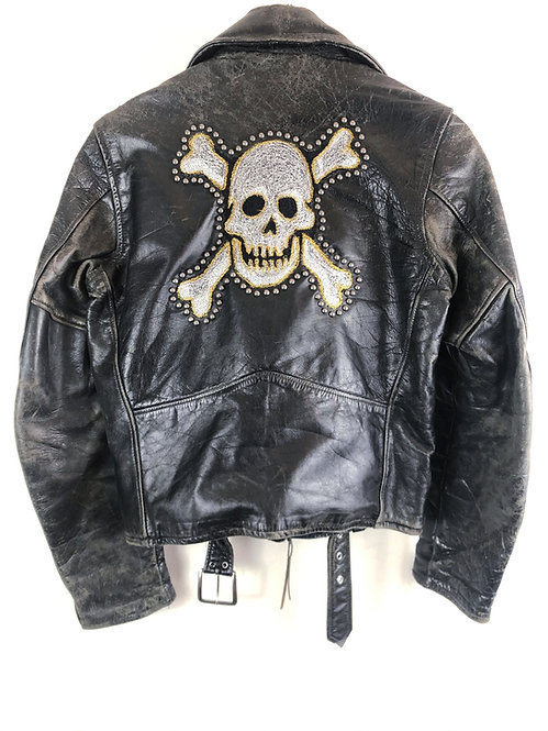 1960's Motorcycle Jacket with Freehand Embroidery by Corey Parks