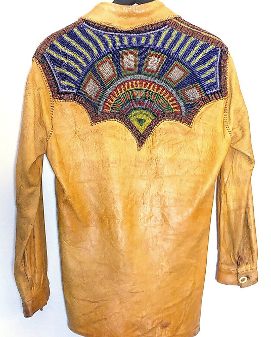 Hand Made Deerskin Shirt Jacket from the 1960's/70's