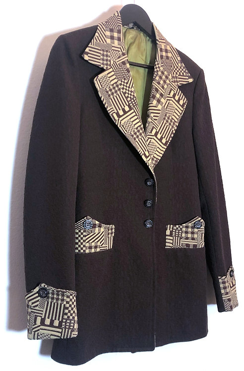 GROOVY JACQUARD MEN'S DISCO 3-PIECE SUIT FROM 1970's