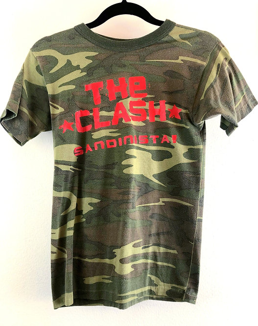The Clash Sandinista Camouflage T-shirt from 1981
