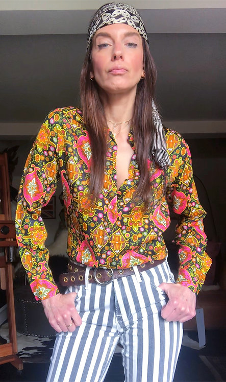 Psychedelic Print Shirt from the 1970's