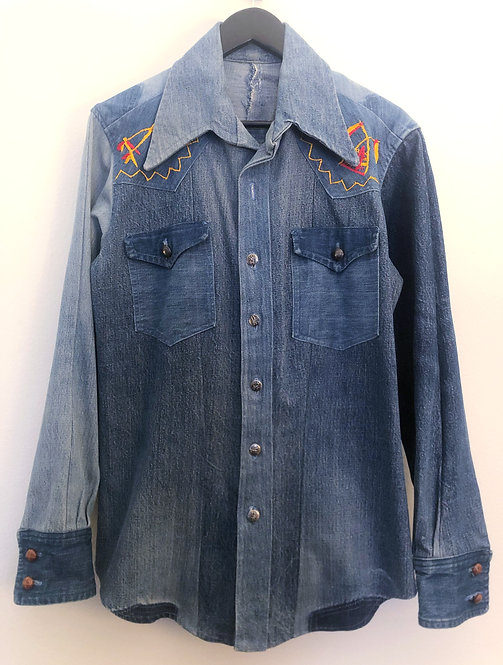 Repurposed Denim Shirt from the 1970's