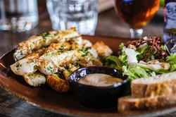 Lobster with side salad & baguette
