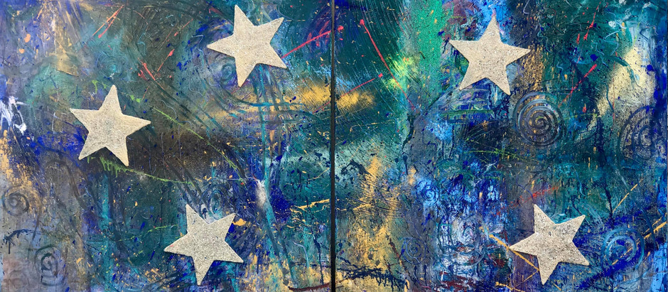 """Did You Ever Imagine Sleeping Under The Universe? (New Painting """"STARDUST"""")"""
