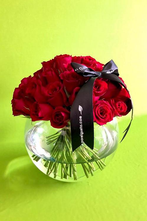 Pecera 50 rosas