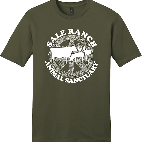 Sale Ranch Animal Sanctuary PEACE MENS Tee Shirt