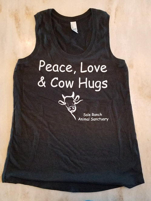 Peace, Love & Cow Hugs Women's Tank Top