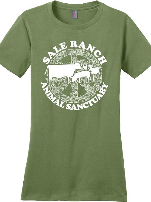Sale Ranch Animal Sanctuary PEACE WOMEN's Tee Shirt