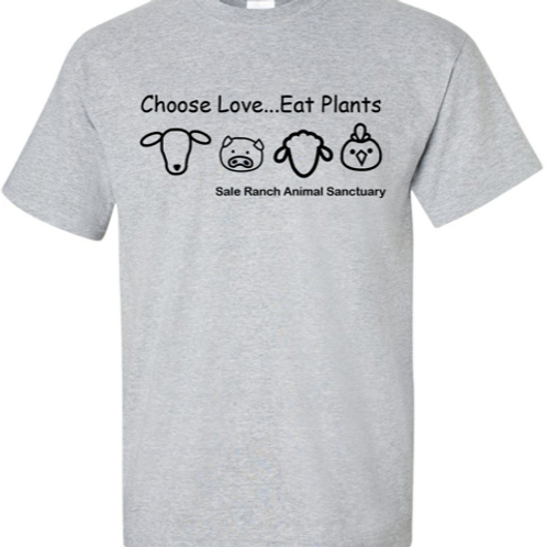 Choose Love... Eat Plants  WOMAN T-Shirt