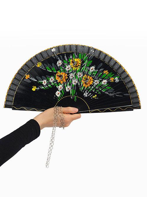 Midnight Bouquet Fan Necklace