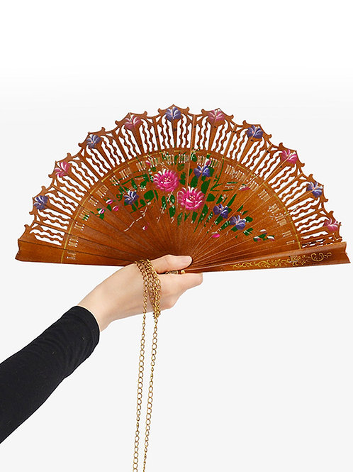 Wild Roses Fan Necklace