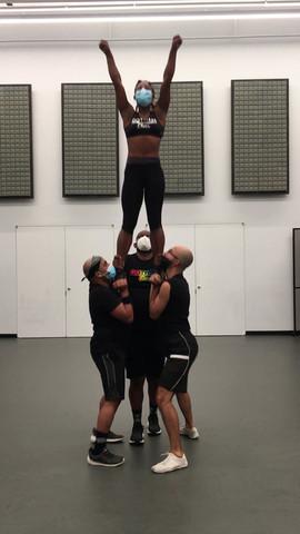 Gotham cheerleader heel stretch.MOV