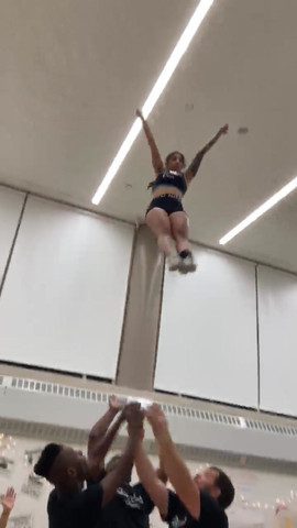 Gotham cheerleaders stunting in NYC.mov