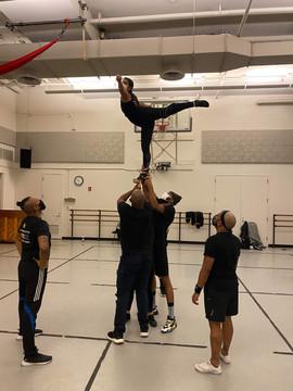 gotham cheerleader stunt arabesque