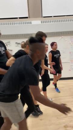 Gotham cheerleaders back tuck basket toss.mov