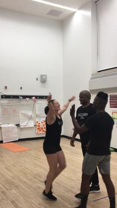 gotham cheerleaders at practice stunting liberty.mov