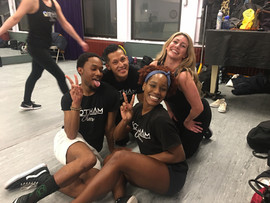 gotham cheerleaders at dance practice.JPG