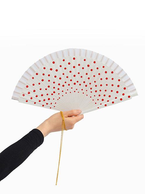 Red Hot Dot Fan Necklace