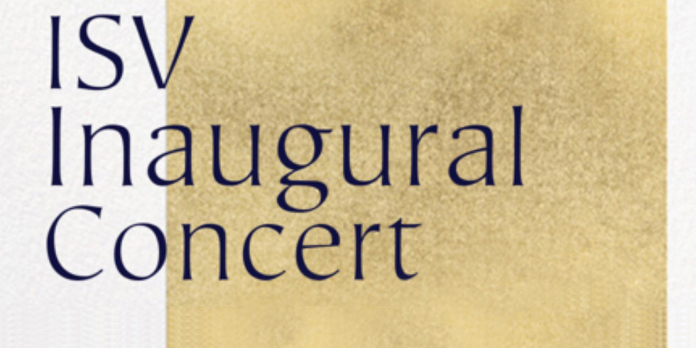 International School of Voice Inaugural Concert