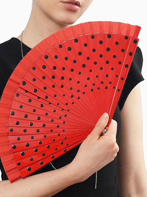 Red Pepper Fan Necklace