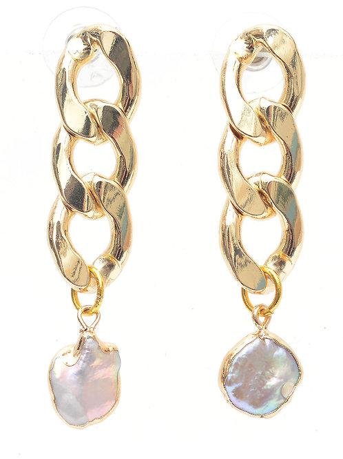 Oro y Perla Earring