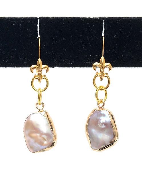 Pearl in Gold Earrings