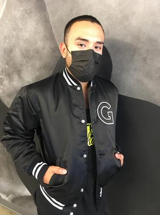gotham cheer male black varsity jacket
