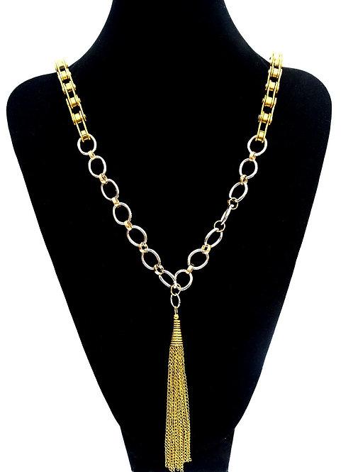 Gold Tassel Drop