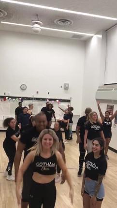 Gotham cheerleaders stunting at NYC practice.mov