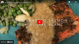 Recipe Video for Herb crusted Salmon with beurre blanc