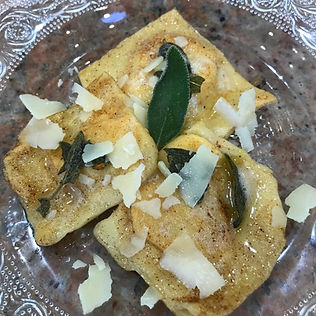 Butternut & Sage Ravioli with Brown Butter Sauce