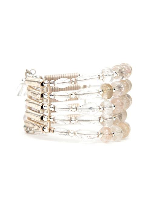 Crystal & Quartz adjustable bracelet