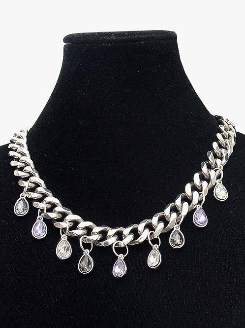 Plata y Cristal Necklace