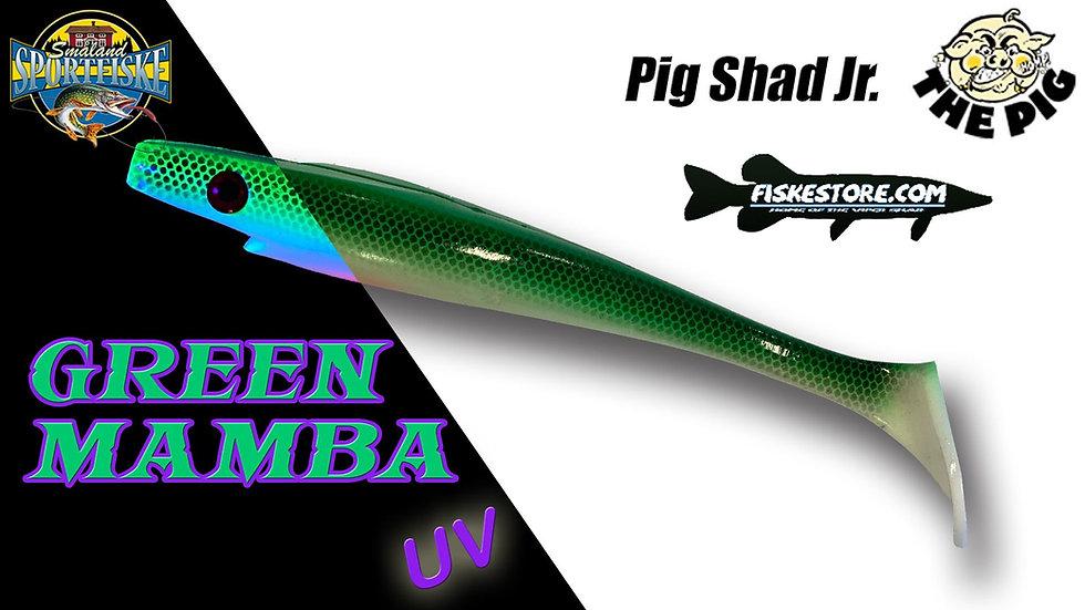 Pig Shad JR 20 cm Green Mamba UV - Exclusive Småland Sportfiske Color