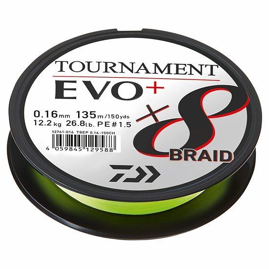Daiwa Tournament X8 Braid Evo+ Chatreuse