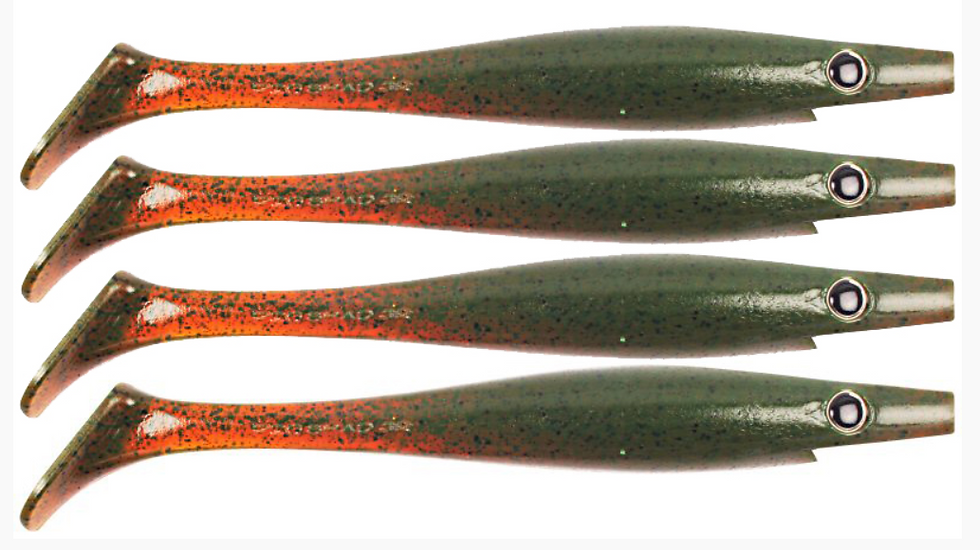 Pig Shad JR 15 cm Motor Oil Pepper