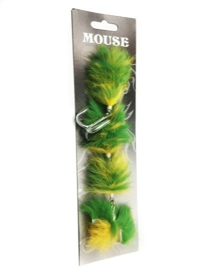 Mouse Fishing Green Parakeet M & L