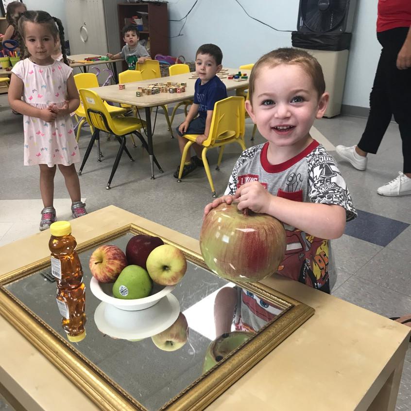 Whoa, that's a big apple!