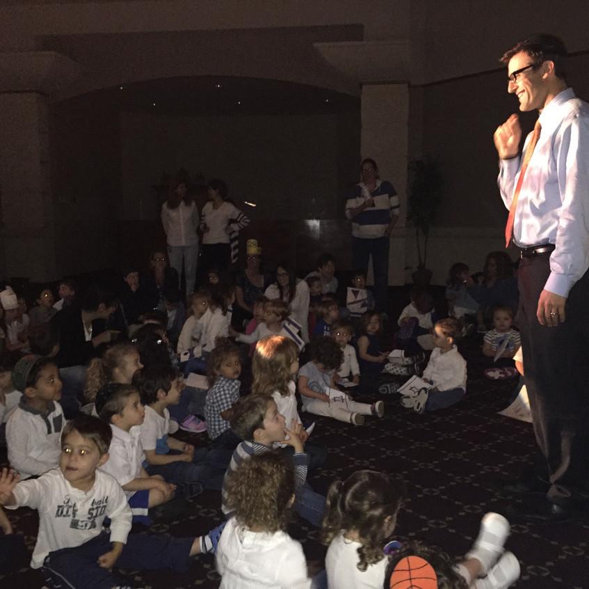 Rabbi Antine speaking to the ECC