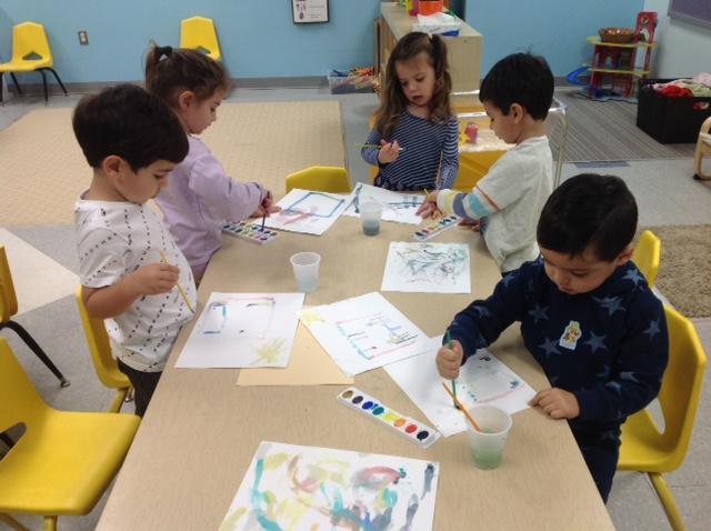 Watercoloring Sukkah pictures