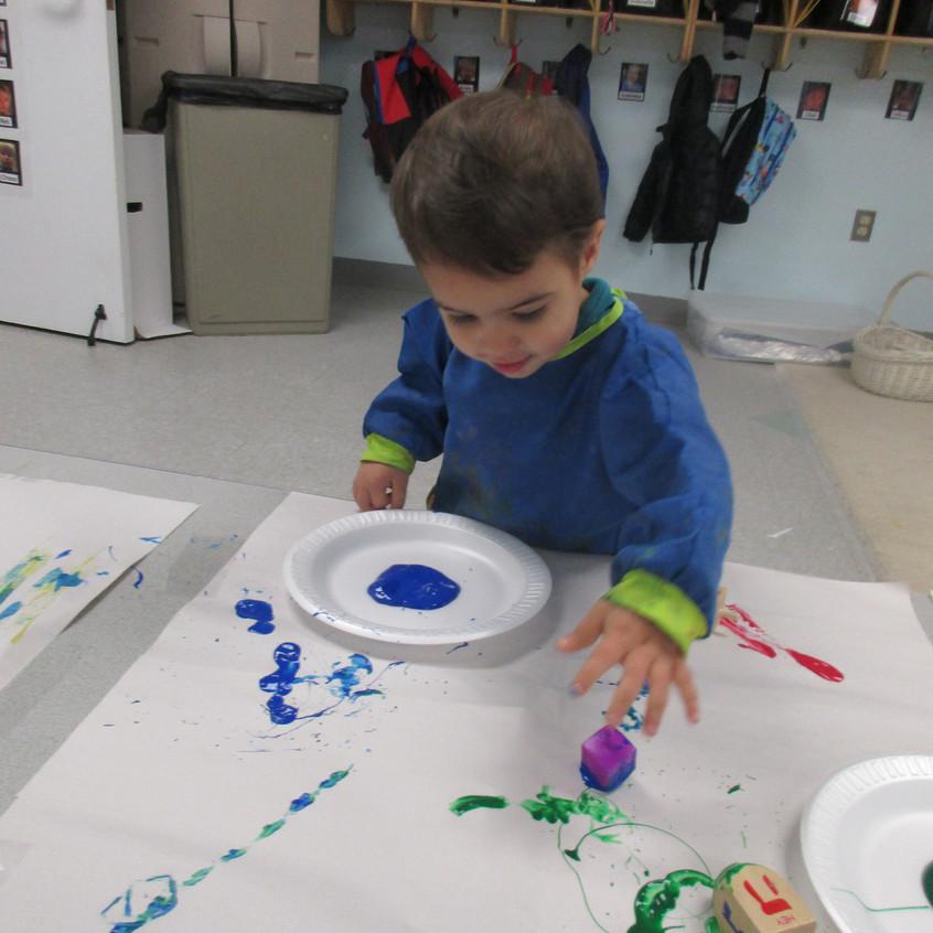 Making art with dreidels