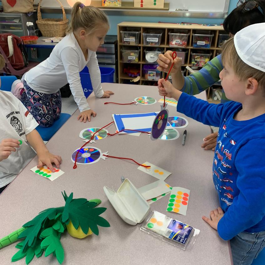 Making Sukkah decorations