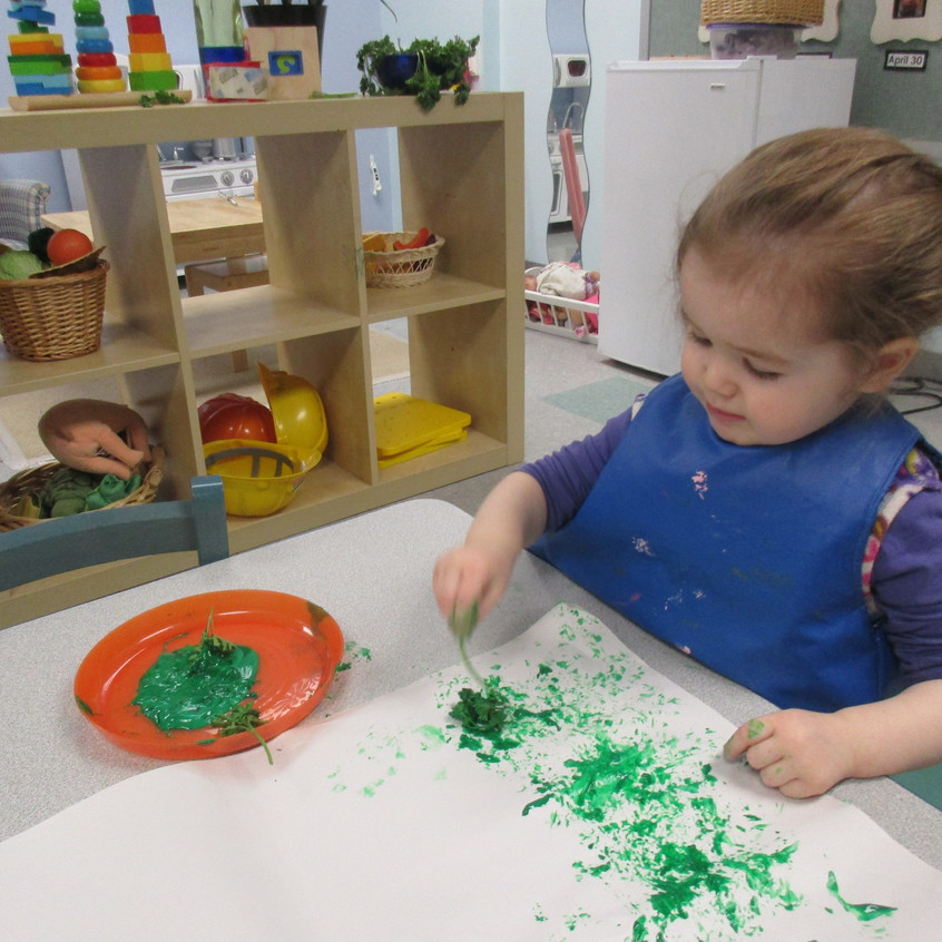Painting with parsley